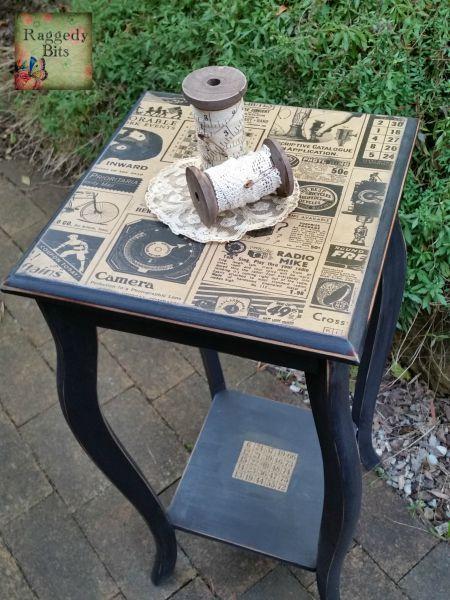 DIY Paper Bag Side Table | www.raggedy-bits.com