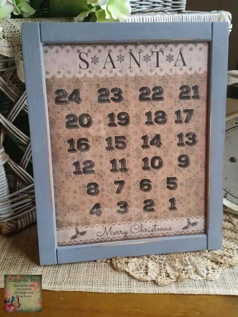 FREE Vintage Santa Christmas Countdown Printable | www.raggedy-bits.com