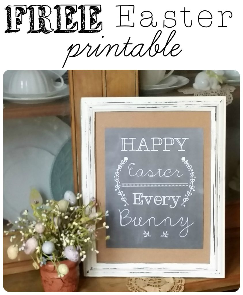 """Grab your very own FREE """"Happy Easter Every Bunny"""" Printable to adorn your Easter decorating! 
